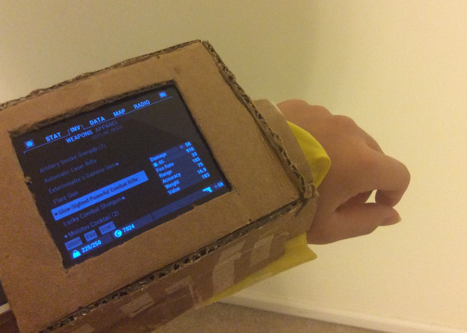 When you want a pip boy, but your on a budget - meme
