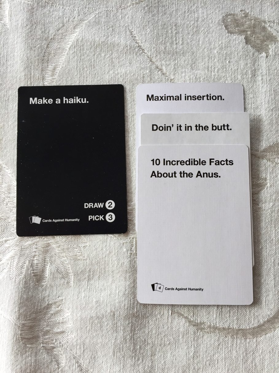 Cards Against My Anus - meme