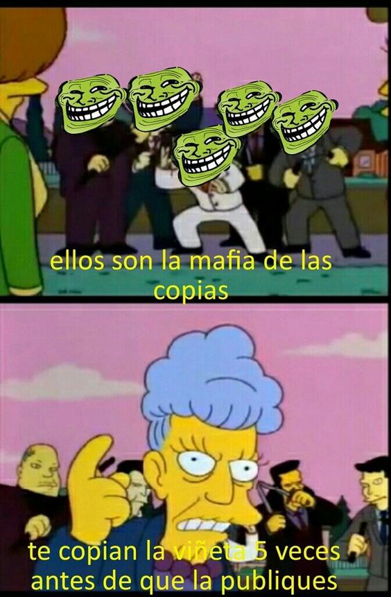 La mafia de las copias - meme