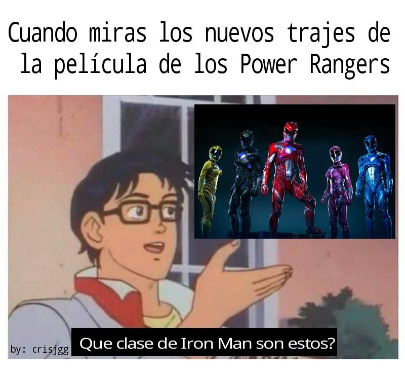 Go Go Iron Rangers jajaja - meme