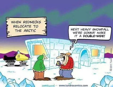 Rednecks in the Arctic - meme