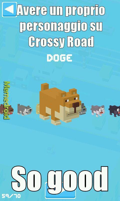 Avete Crossy road - meme