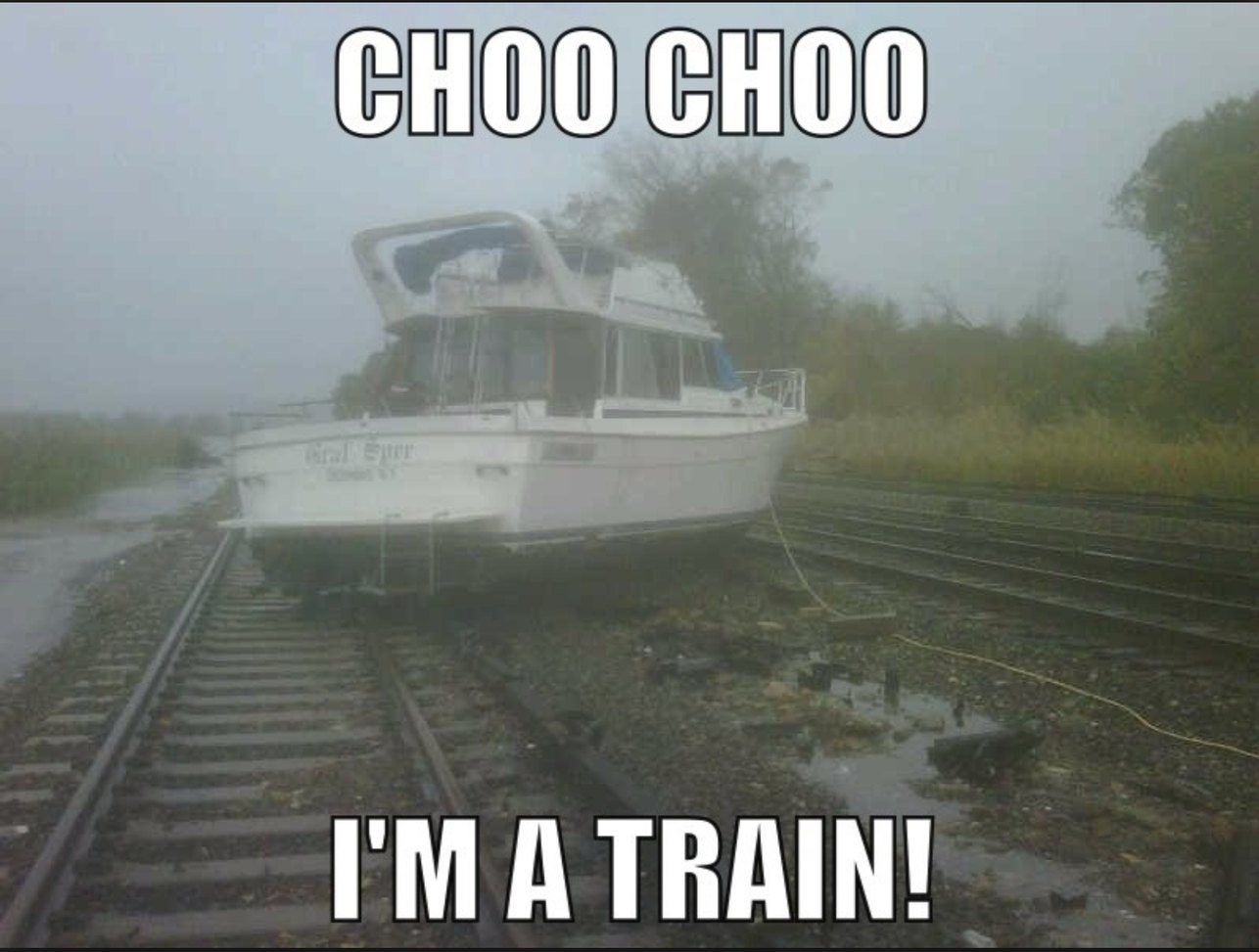 I'm a train! - meme
