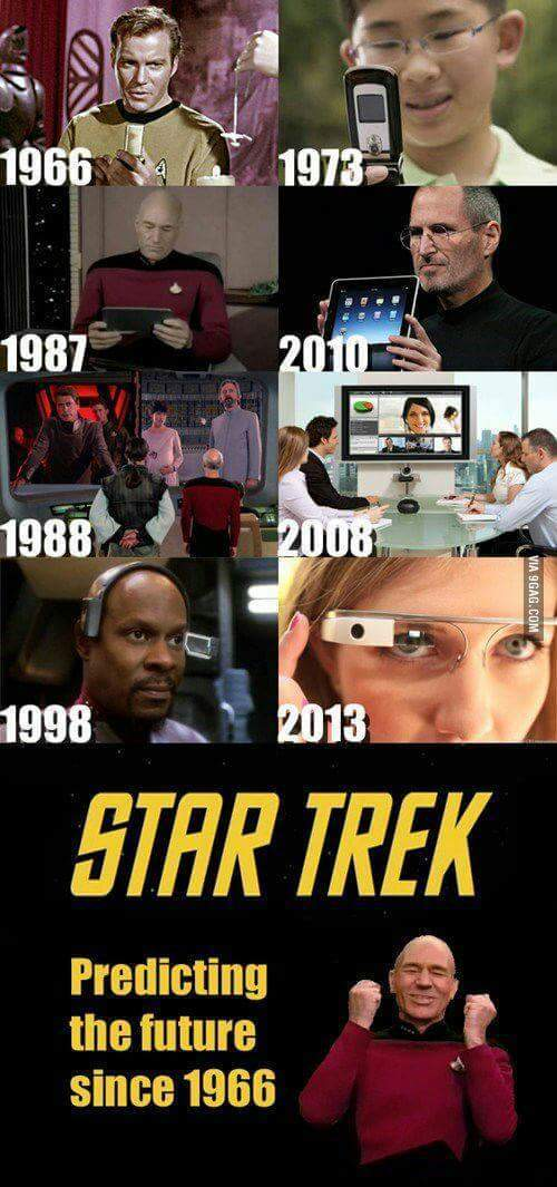 Star Trek, prediciendo el futuro desde 1966 - meme