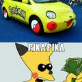 Come on Pikachu,look that car!