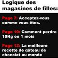 Logique des magazines de filles ...