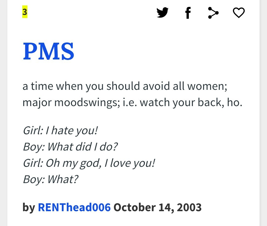 Title has PMS - meme