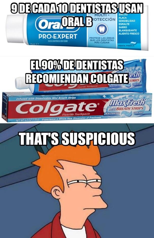Colgate o Oral-B que usas? - meme