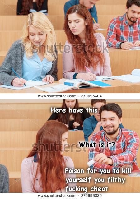 Being in tests like - meme