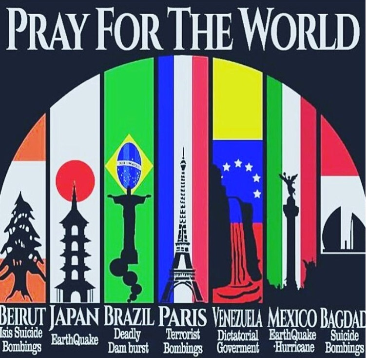 Pray for the world - meme