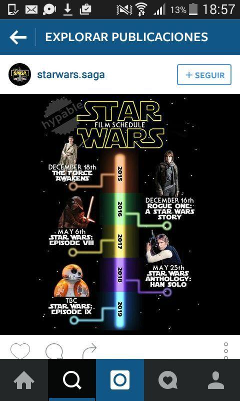 Las siguientes películas de Star Wars señor@s - meme