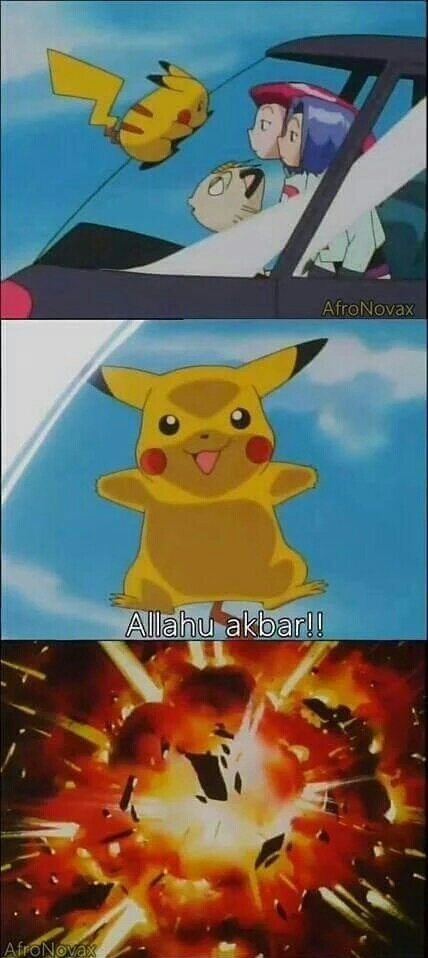 Pikachu terrorista! - meme