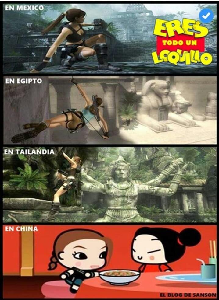 Lara Croft - meme