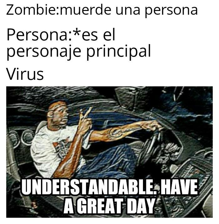 Al título lo mordió un Zombi - meme