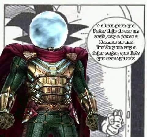 Contexto: Gwen no engaño a peter con Norman, Mysterio se dejo coger - meme