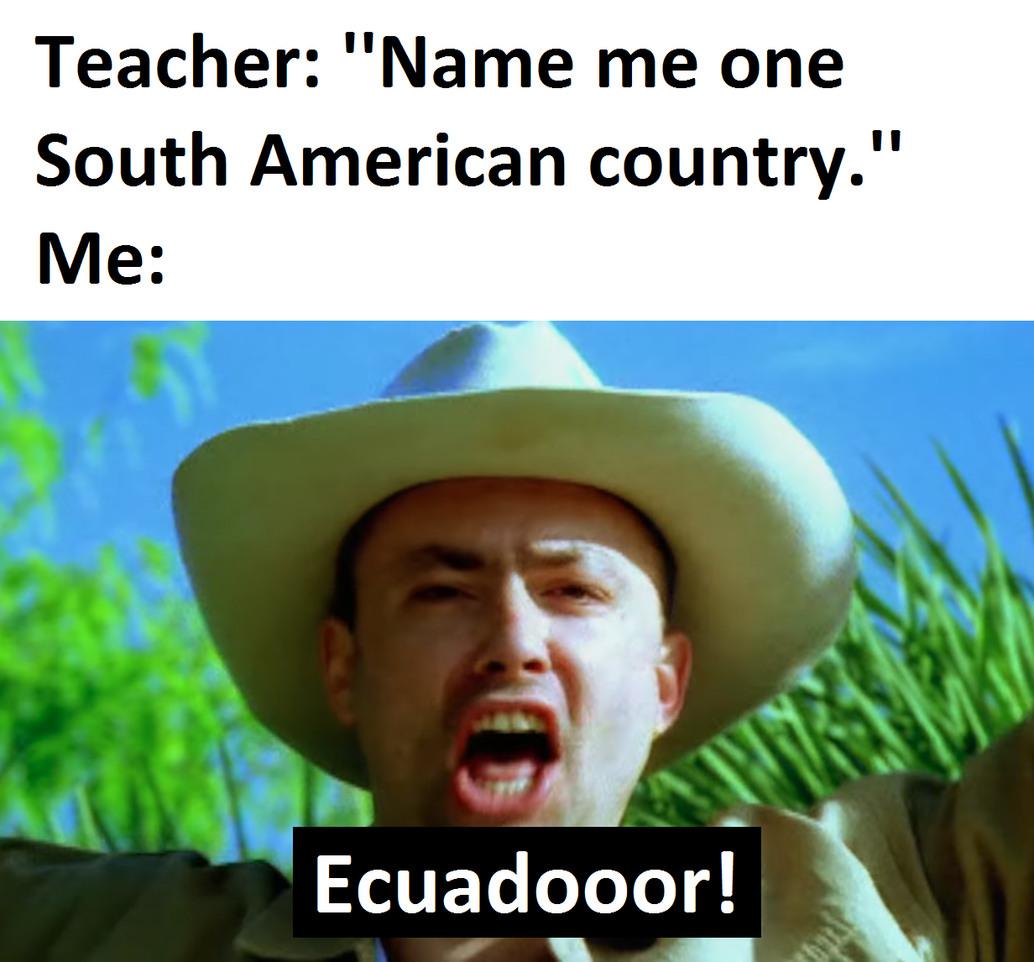 Sash - Ecuador - meme