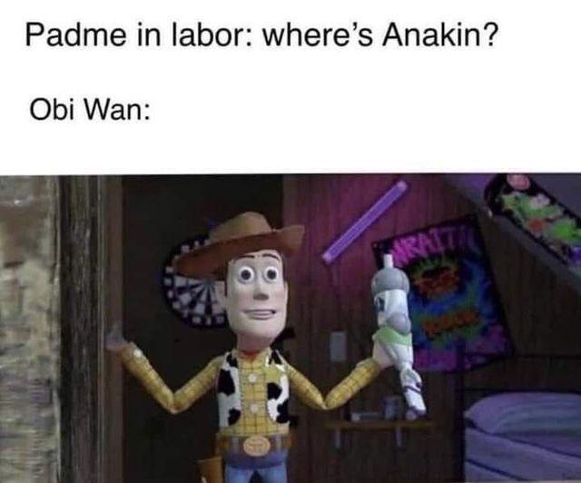 pobre anakin - meme