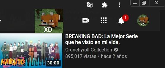 Braking Shipuden (error de youtube?) - meme