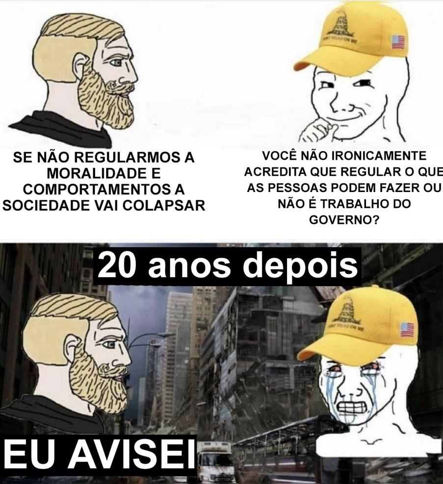 Livre Mercado influencia a sociedade - meme
