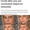 Sounds like Natural immunity with extra steps