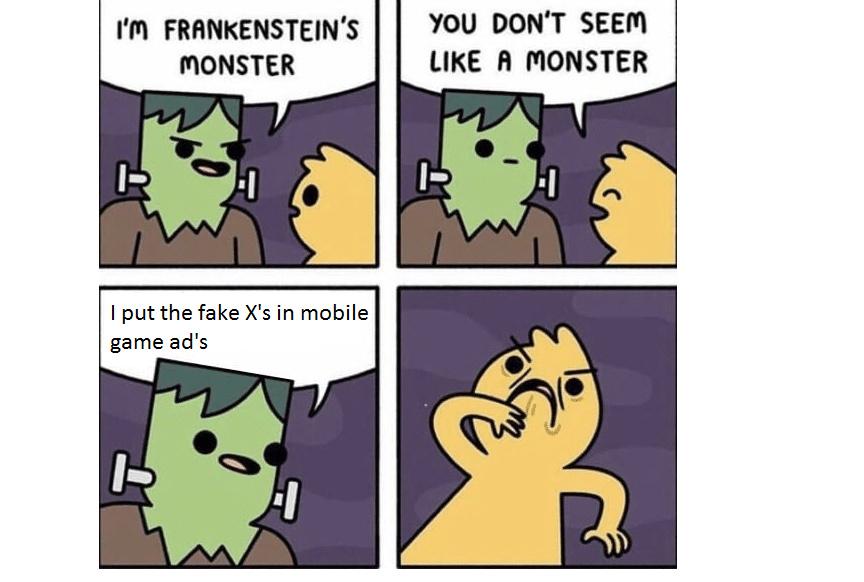 You monster! - meme