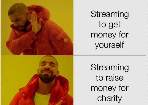help the charities peeps - meme
