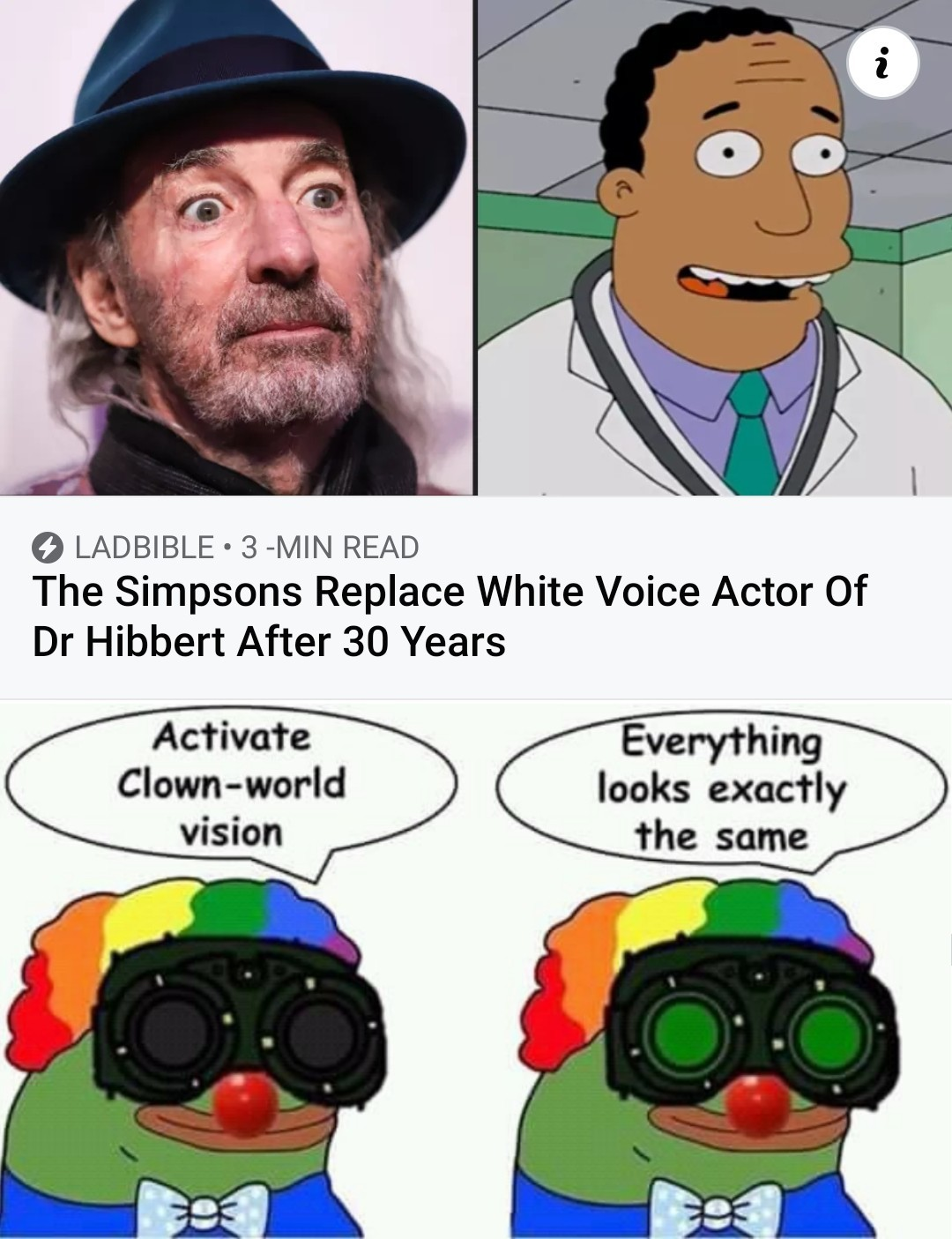Just wait till they find out the voice actor for Homer Simpson isn't yellow - meme