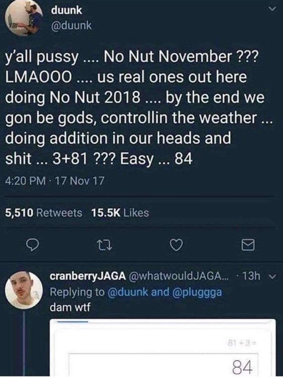 No Nut 2018 - meme