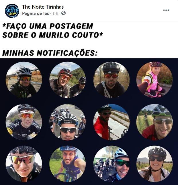 Ciclistas contra o Murilo Couto (pesquisa no Google se não entender) - meme