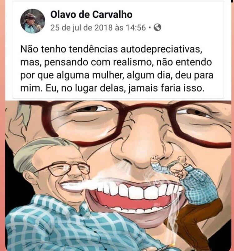 papai Olavinho - meme