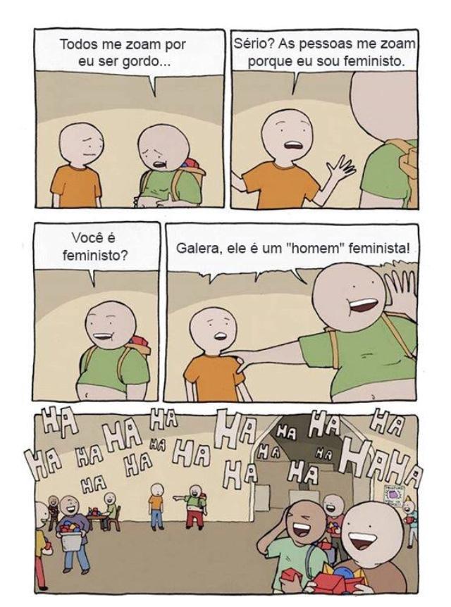 desculpa, mas homem feminista é uma piada ambulante - meme
