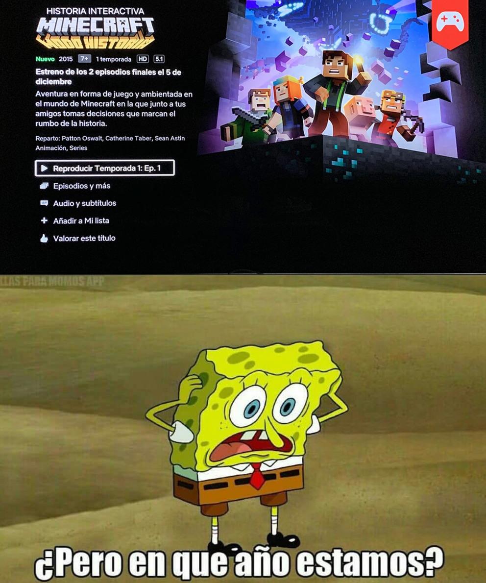 Netflix saca maincra story mode - meme