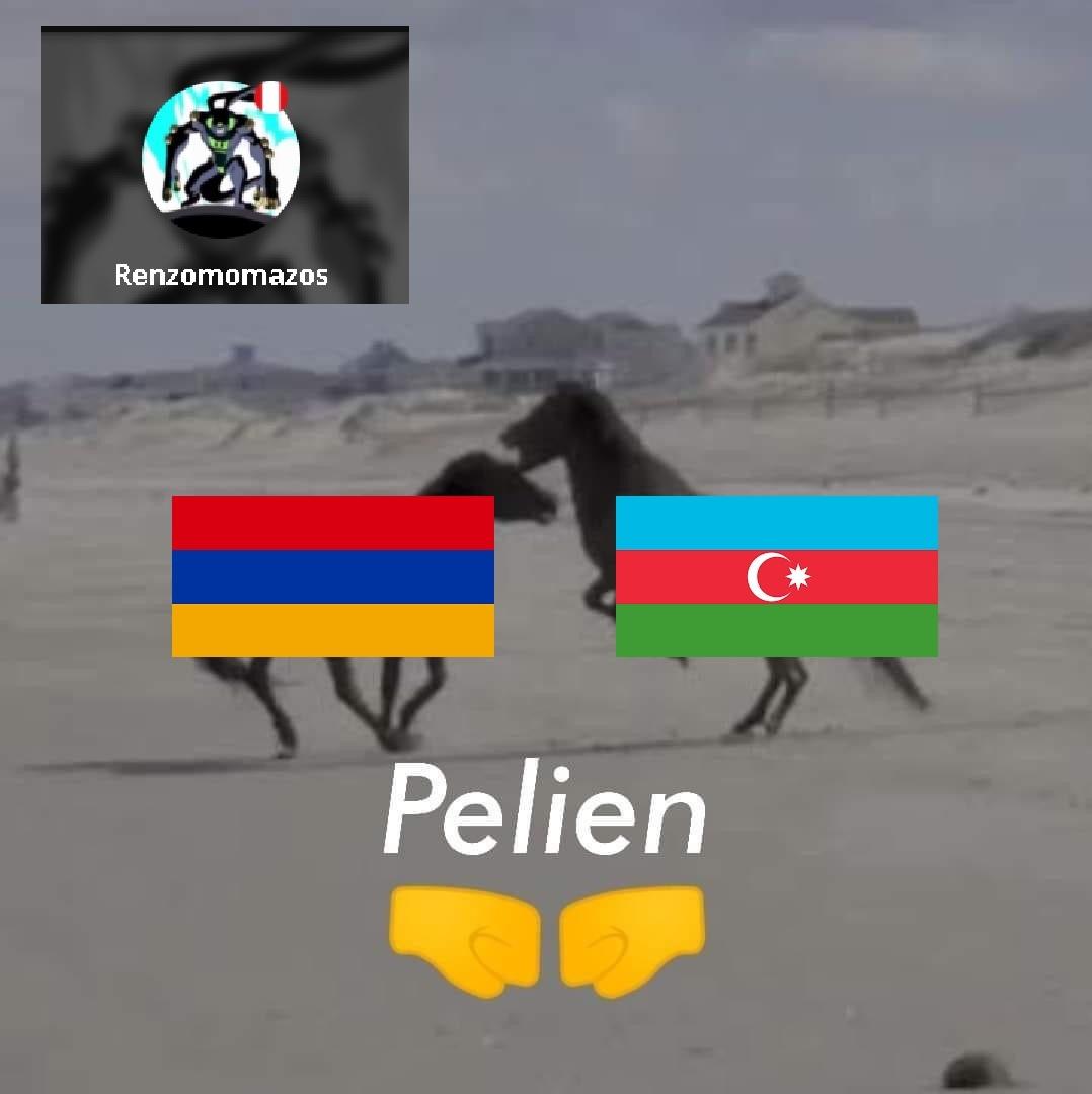 Guerra de Nagorno Karabaj en pocas palabras - meme