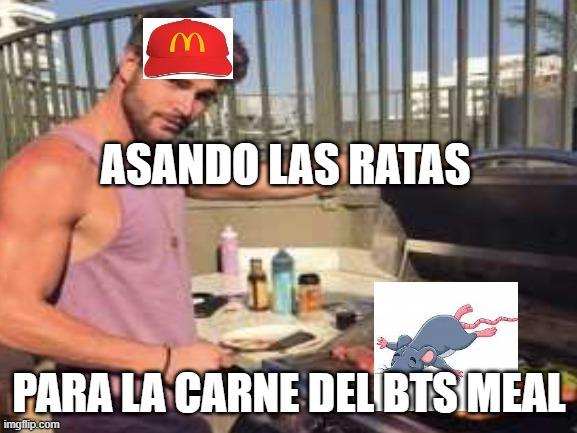 Bts meal tiene carne de rata - meme