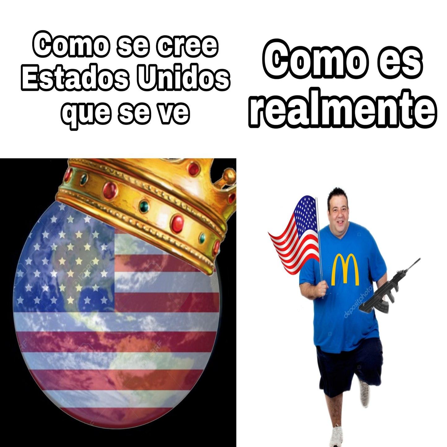 Pobres estadounidenses gordos - meme