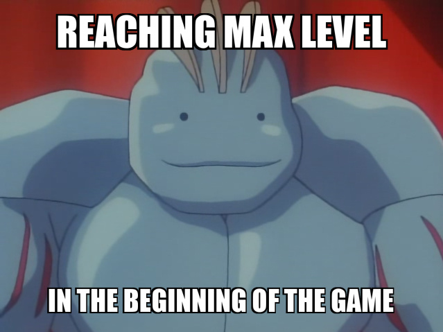 When you reach the Max Level (Machoke Ditto Fusion) - meme