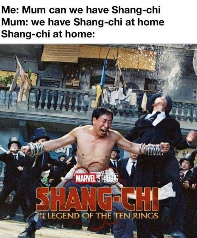 Shang-chi at home - meme