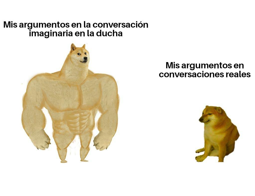 Conversaciones en la ducha - meme