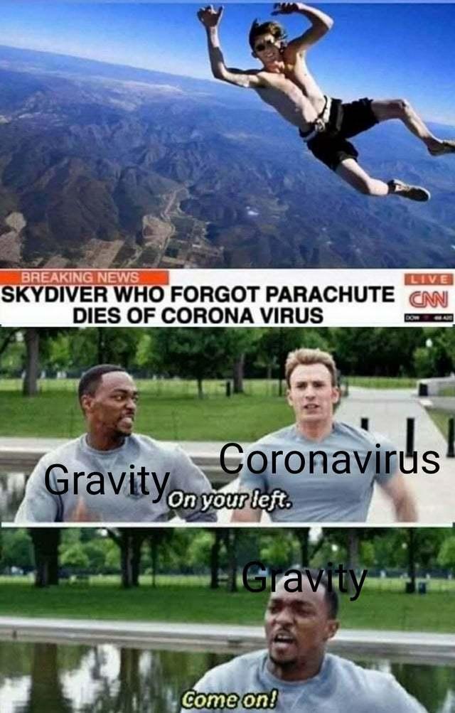 Gravity be like bruuuuh cringe!? - meme