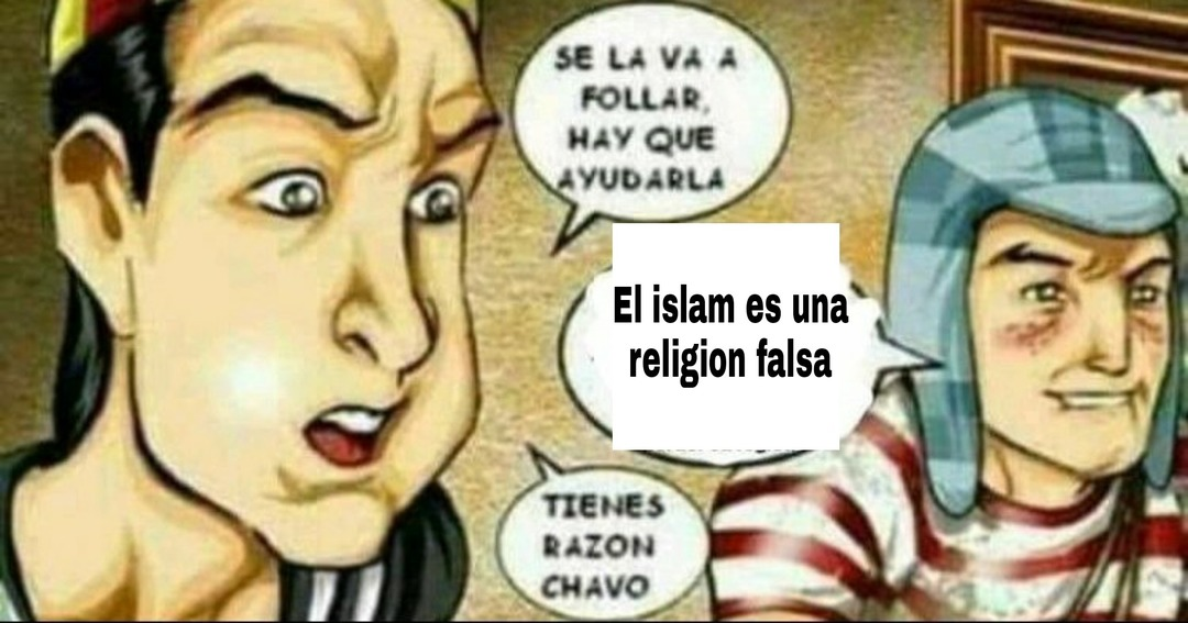 Mahoma esta en el infierno - meme