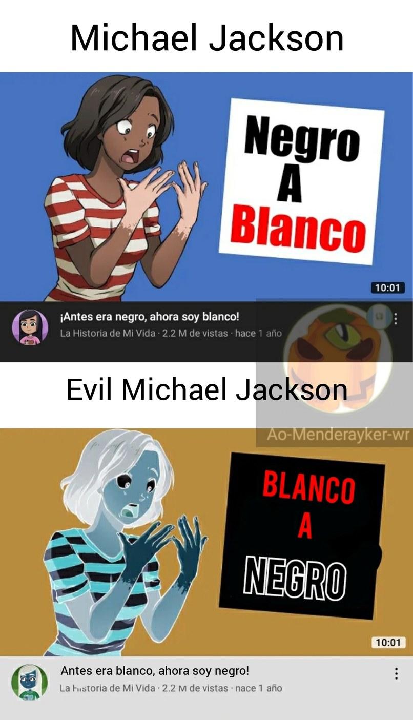 Solo Michael Jackson supo desactivadar el modo oscuro en la piel :O - meme