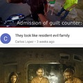 """I know he should have put """"the resident evil family"""" but it made me laugh hopefully you do too"""