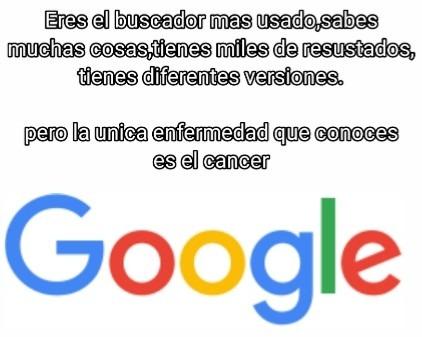El meme tiene cancer -Google