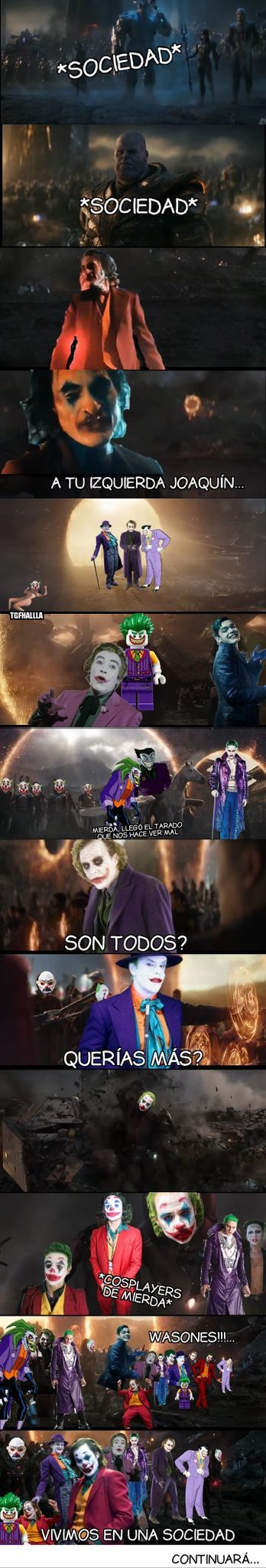 Joker: society war parte 1 - meme