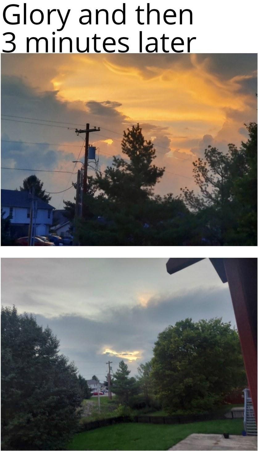 Sunsets be like - meme
