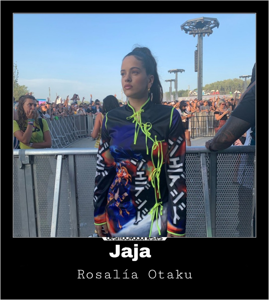 Rosalía otaku - meme