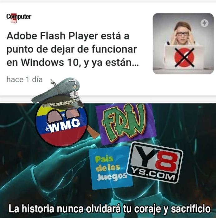 Todas las páginas de juegos flash :( - meme