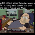 Naked & Afraid and South Park