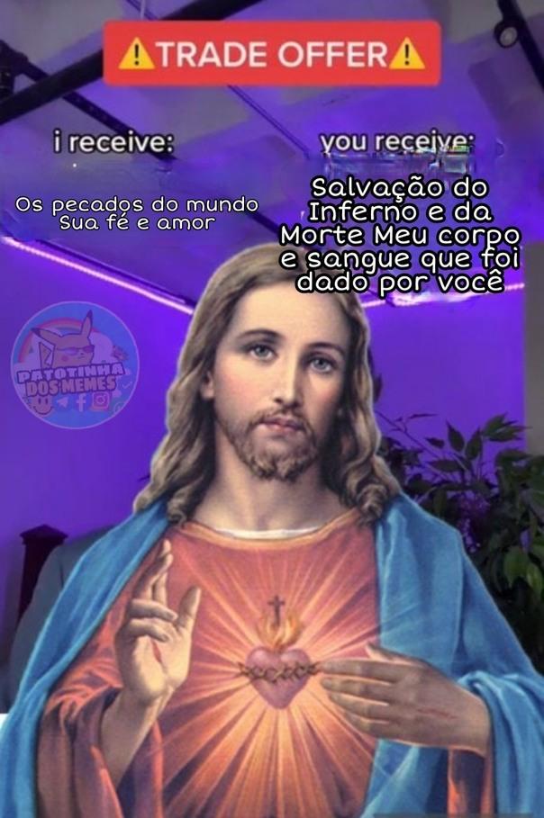 Jesus meme - patotinhadosmemes