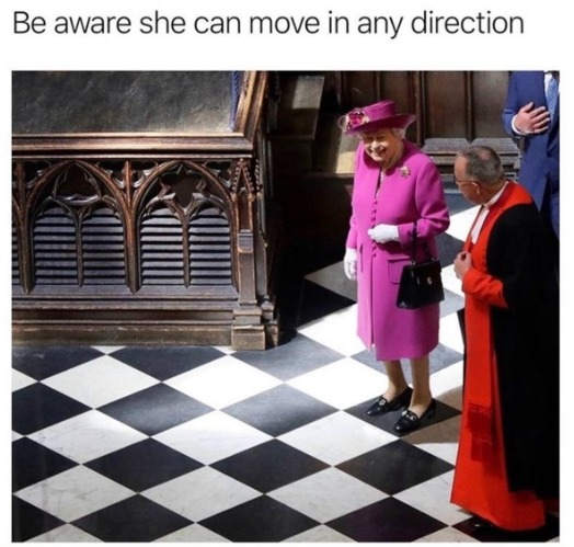 The queen is unstoppable - meme